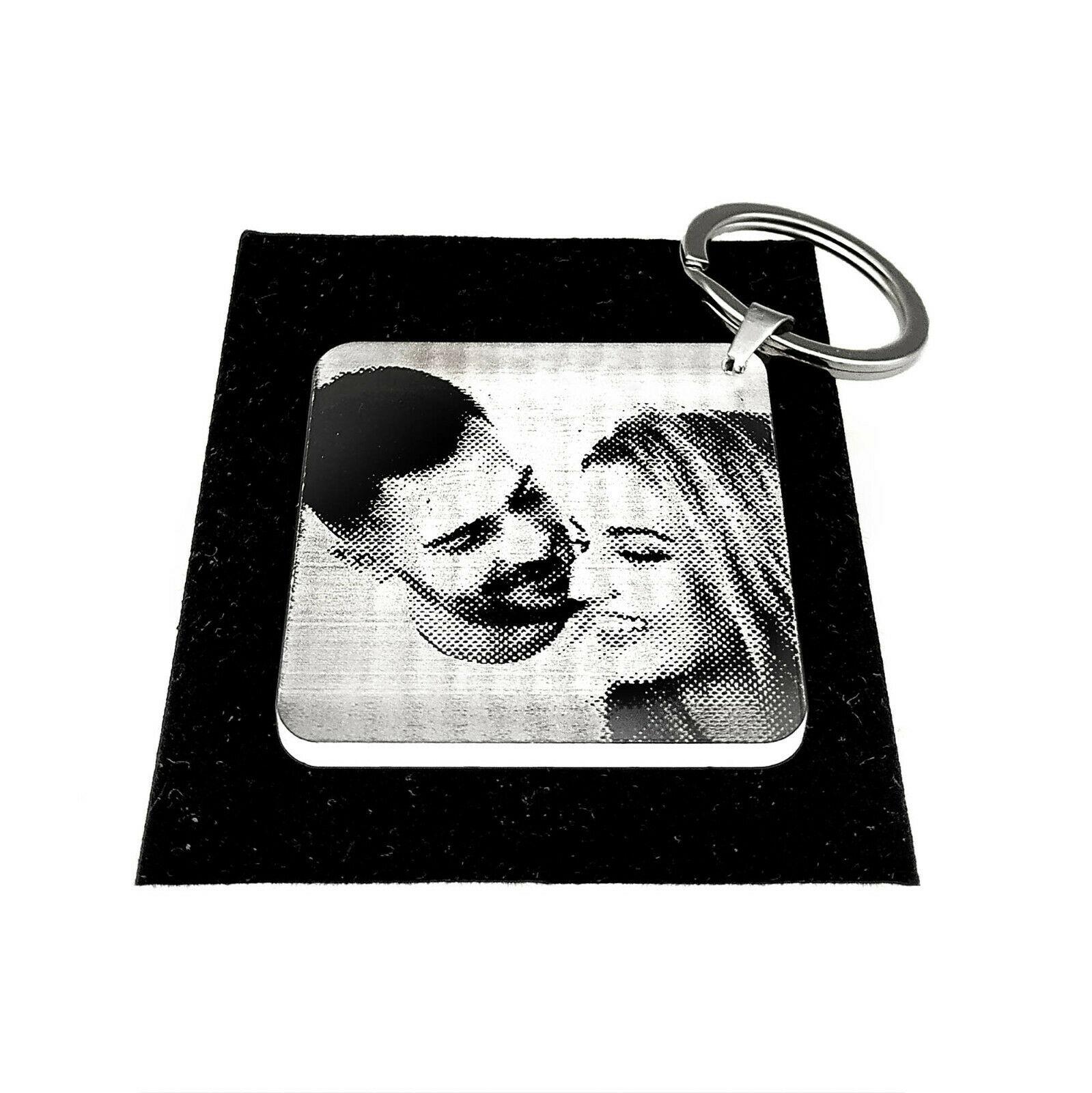 Acrylglas Schlüsselanhänger mit Fotogravur - Acryl Anhänger - Laser Bildgravur
