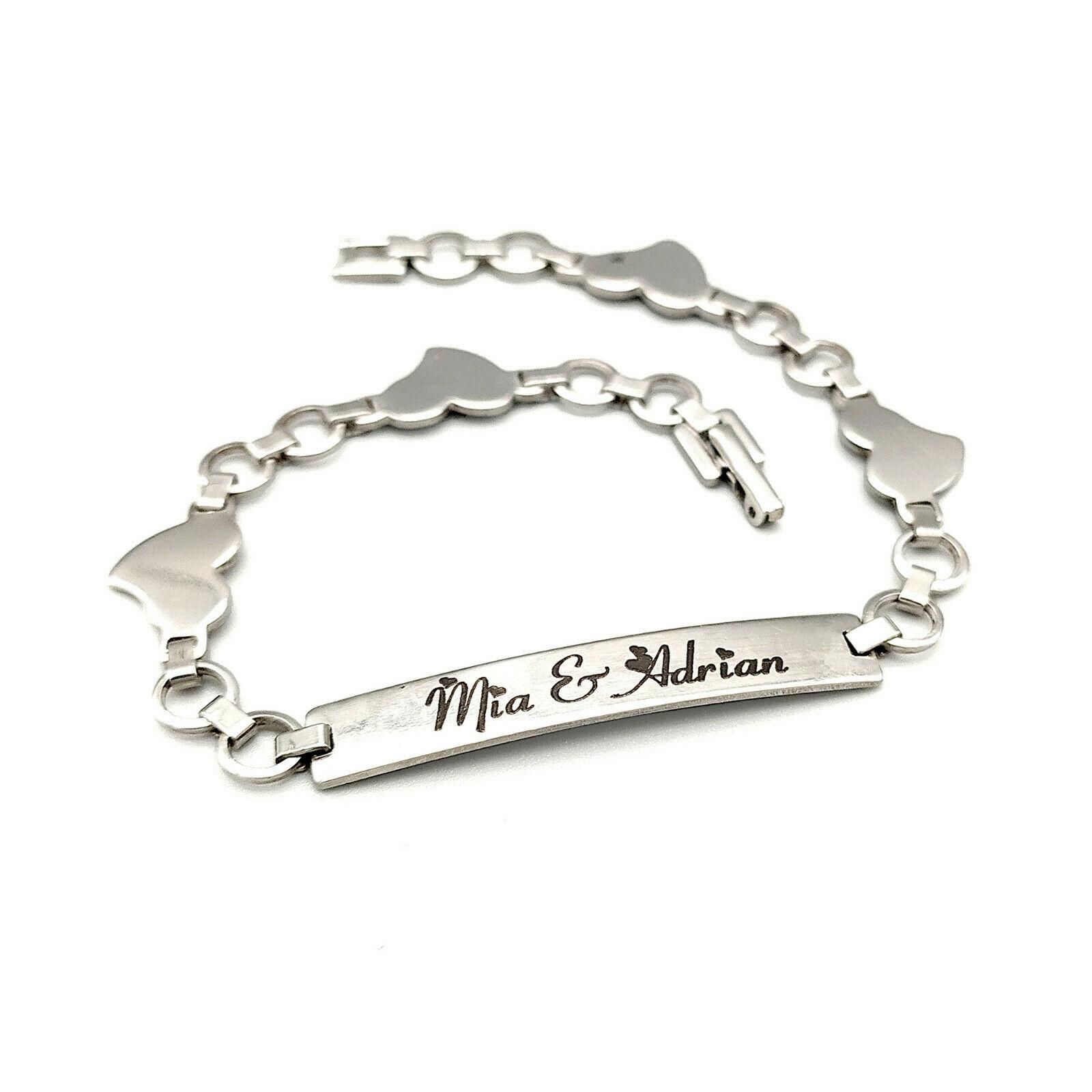 Damen Armband mit persönlicher Wunschbeschriftung - Damenarmband - Gravur