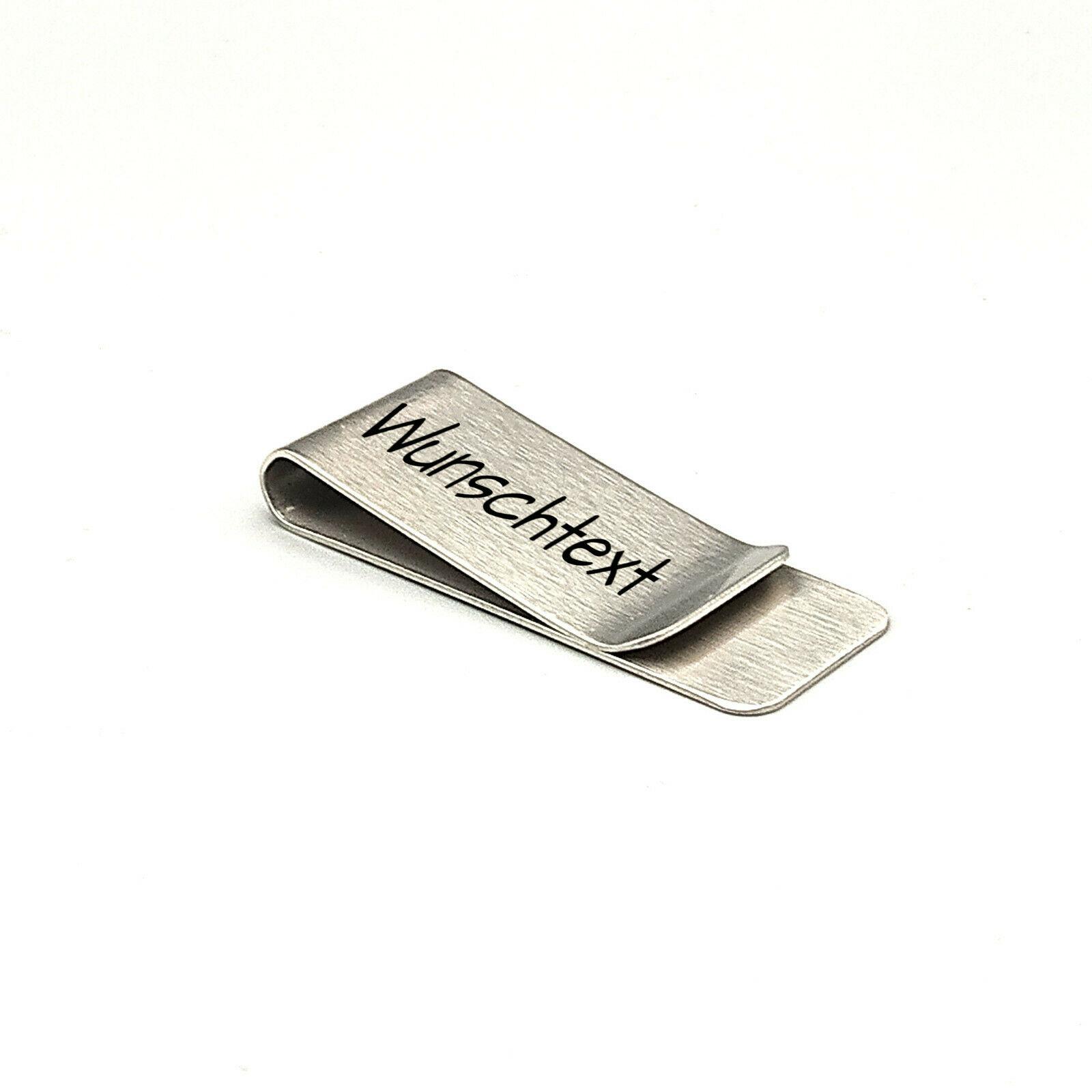 Edelstahl-Geldklammer mit Wunschgravur - Geldclip mit persönlichem Motiv