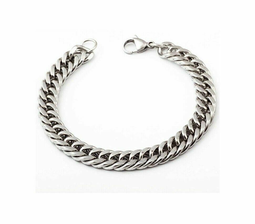Armband aus Edelstahl - Panzerkette - Herrenarmband - anpassbare Länge